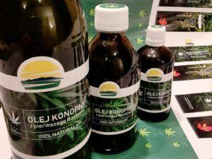 Oleje konopne zimnotłoczone